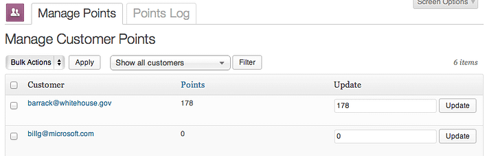 The WooCommerce Points and Rewards plugin.