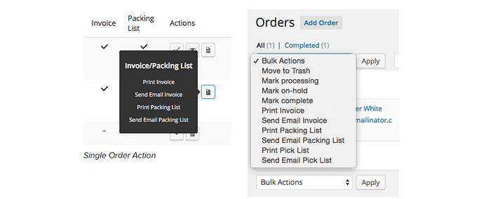 The WooCommerce Print Invoices & Packing Lists plugin.