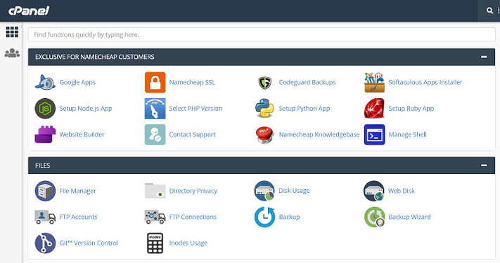 Restore WordPress from Backup - cPanel Control Panel
