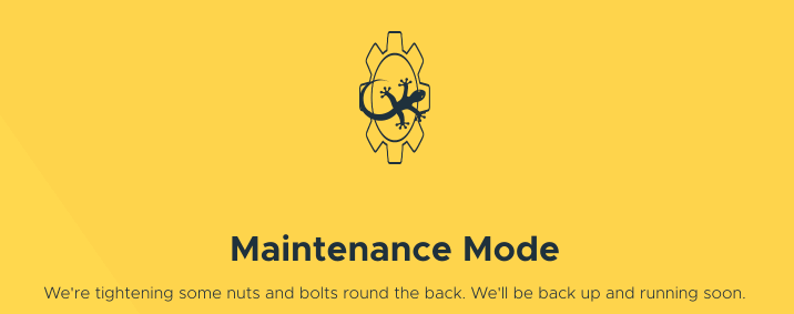An example of a maintenance page.