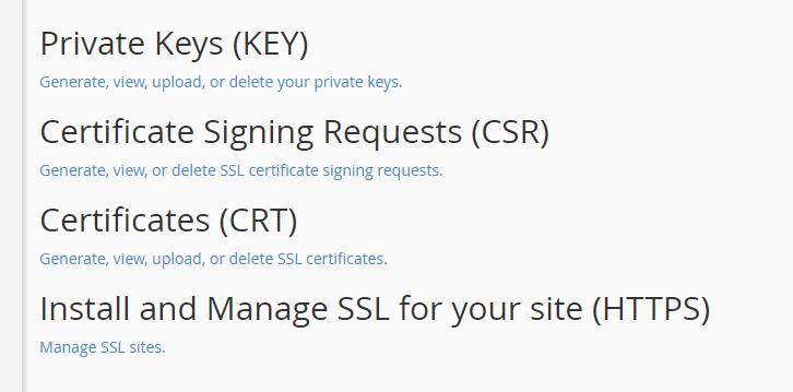 Processing a new CSR.