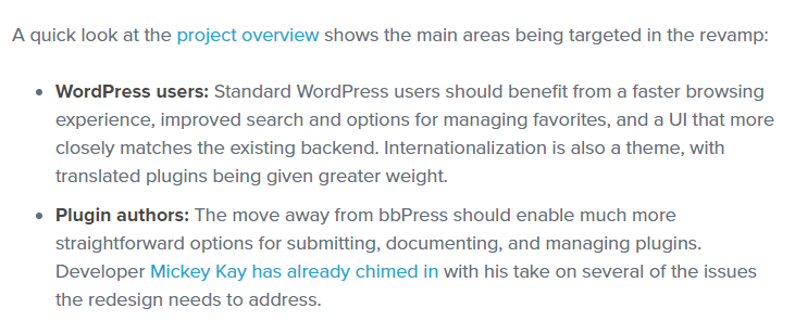 An example of an article using a list.