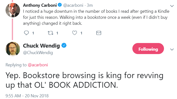 How to build a brand: Chuck Wendig tweet