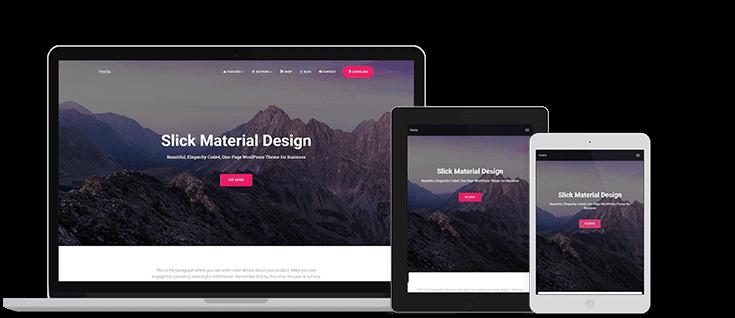 Hestia - free material design theme