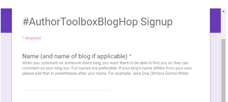 Author Toolbox Blog Hop Signup