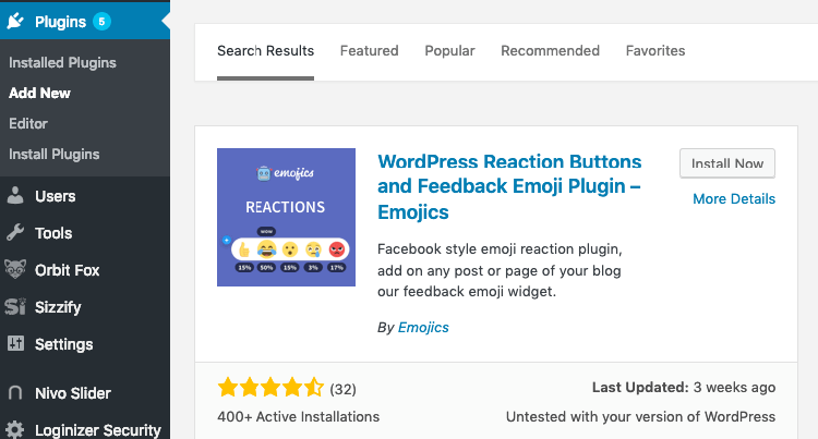 Emojics has good user reviews for reactions