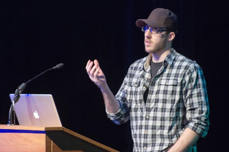 Brad Touesnard speaking