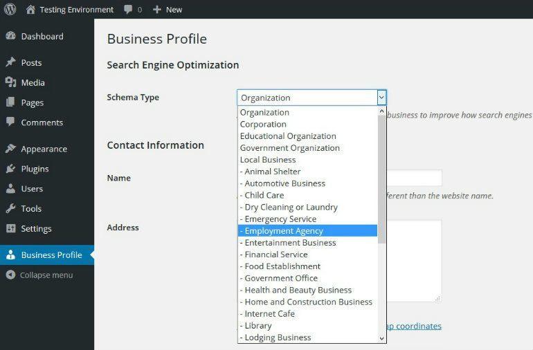 Business Profile Schema Markup