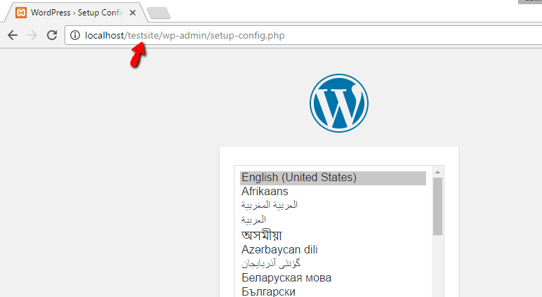 install WordPress on XAMPP