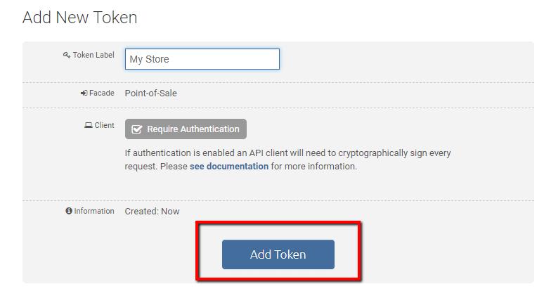add token button