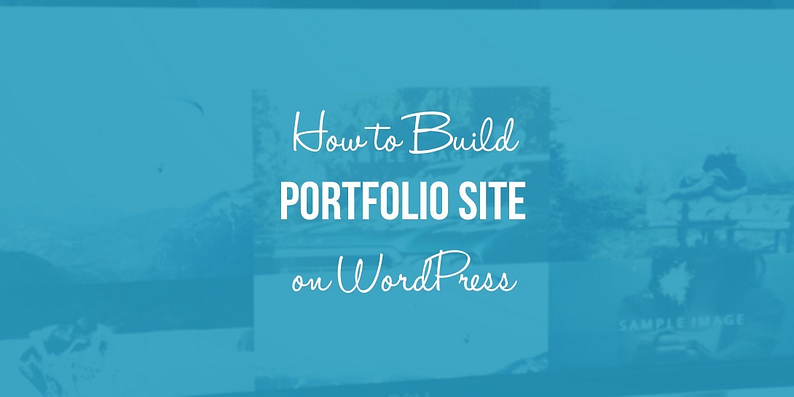 WORDPRESS PORTFOLIO SITE