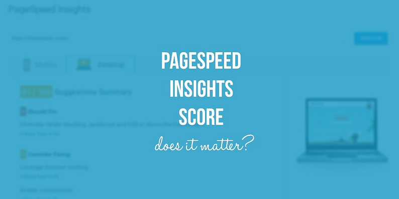 PageSpeed Insights score