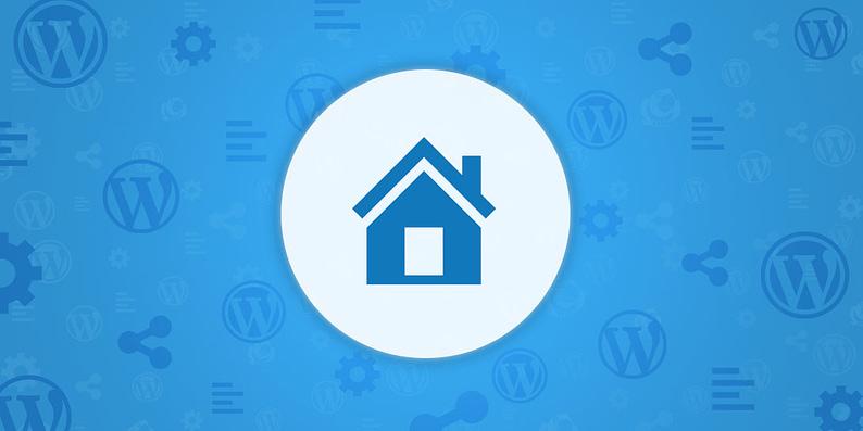 WordPress static homepage