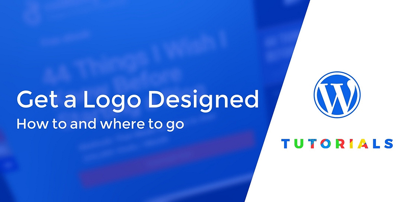how to get a logo designed for your WordPress website