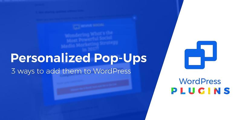 personalized pop-ups in WordPress