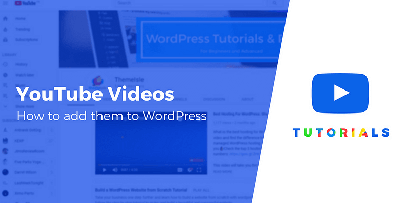 Add YouTube videos to WordPress