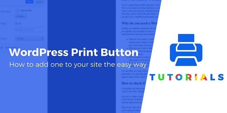 WordPress print button