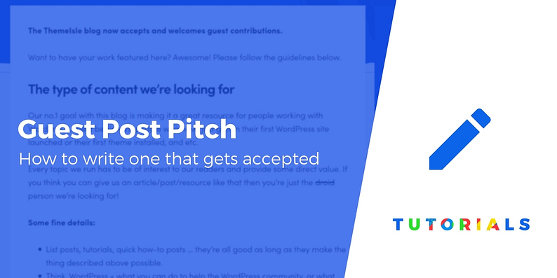How to Write a Guest Post Pitch
