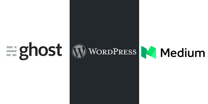 WordPress vs Ghost vs Medium