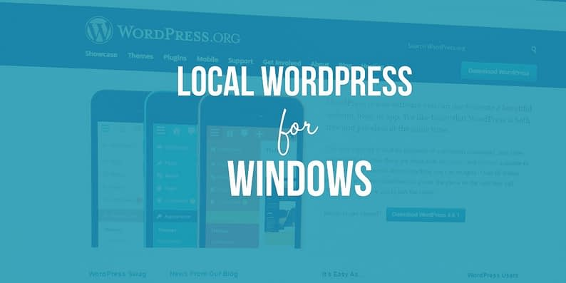 local WordPress testing site for Windows
