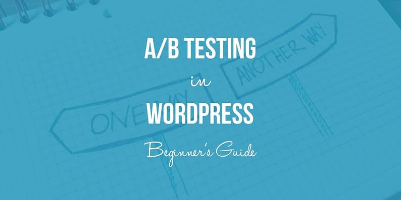 WordPress A/B testing