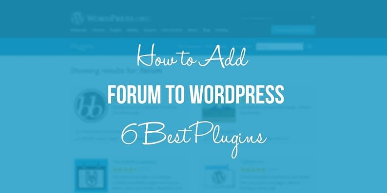 WORDPRESS FORUM PLUGINS