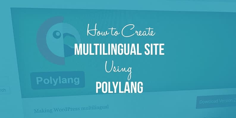 Multilingual WordPress Website Using Polylang