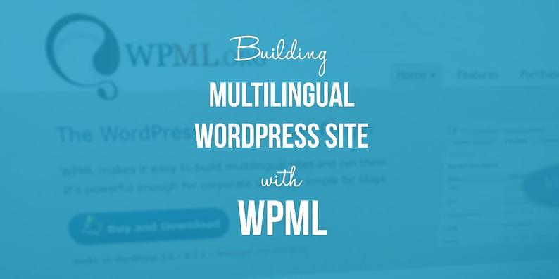 multilingual WordPress website with WPML
