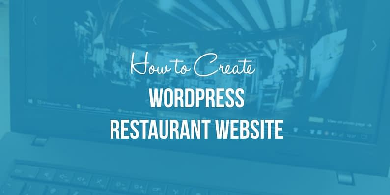 Create a WordPress restaurant website