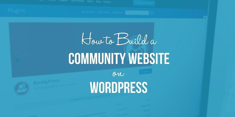 Build a WordPress community website