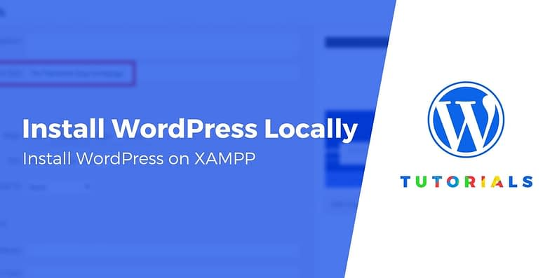 install WordPress locally on XAMPP