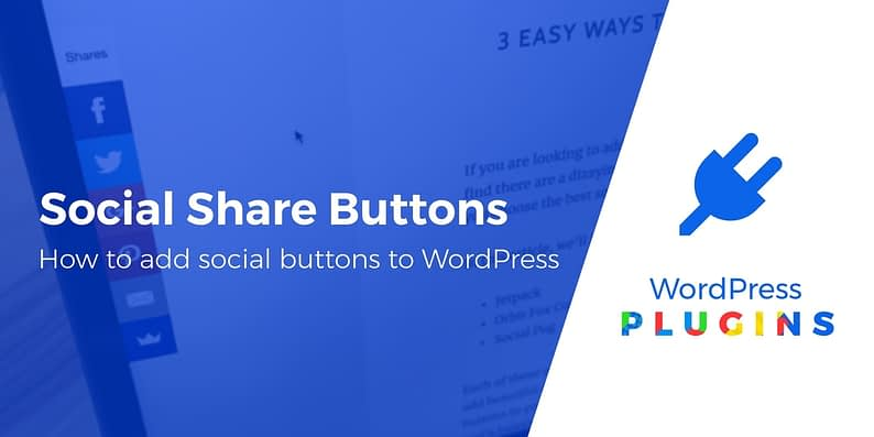 add social share buttons to WordPress