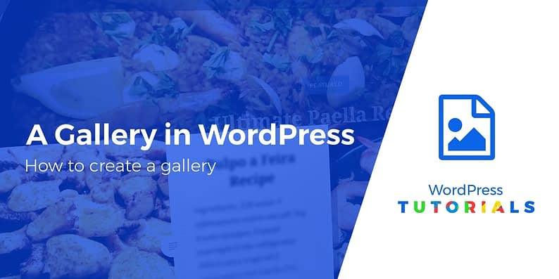create a gallery in WordPress