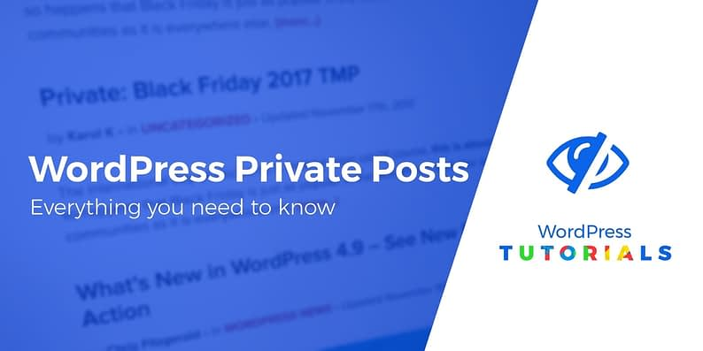WordPress private posts