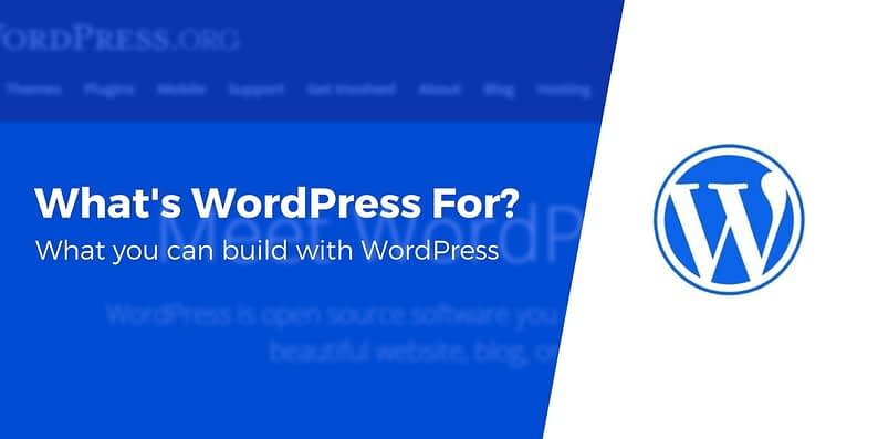 what is wordpress used for