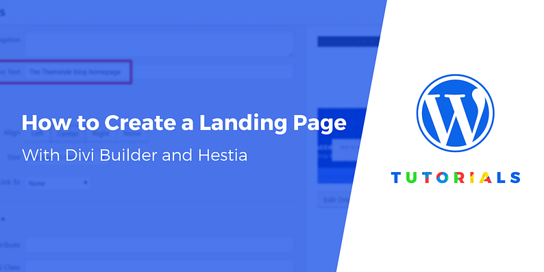 How to Create a Landing Page With Divi Builder and Hestia