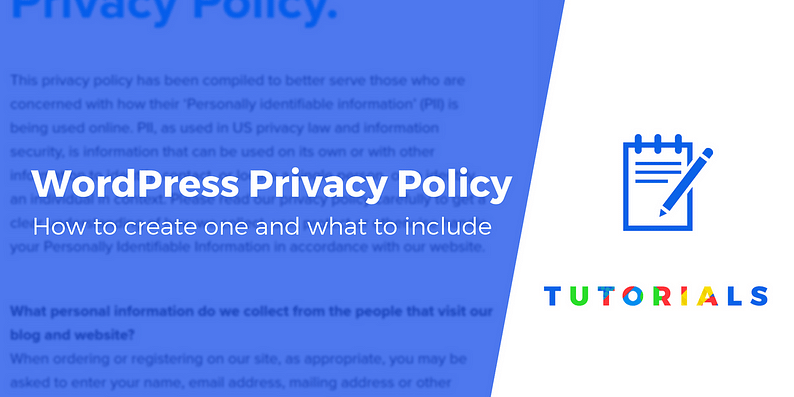WordPress privacy policy