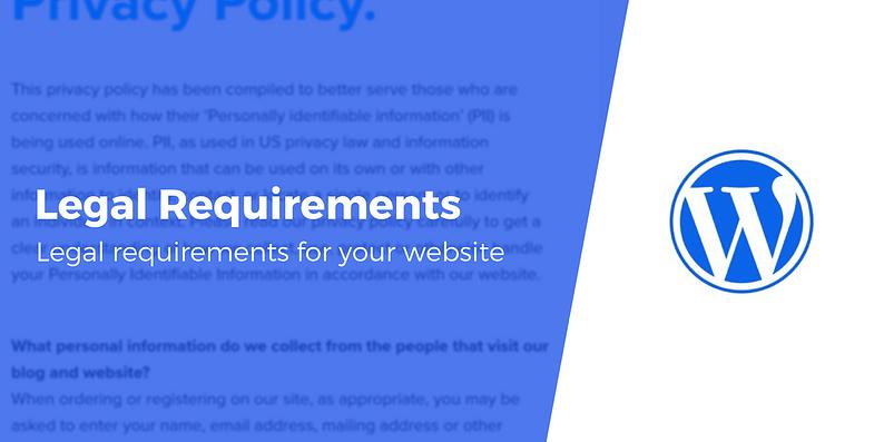 Website legal requirements