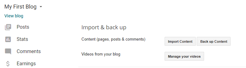 Backing up your Blogger content.