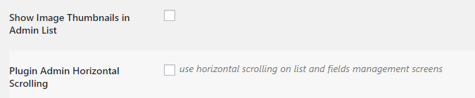 Enabling horizontal scrolling for your database.