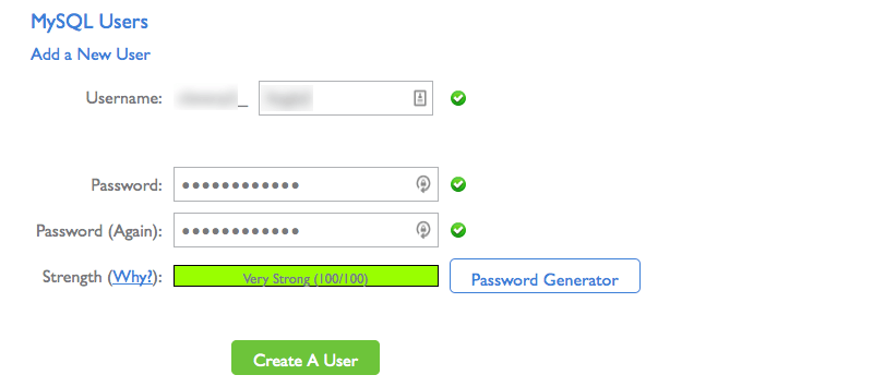 add a database user