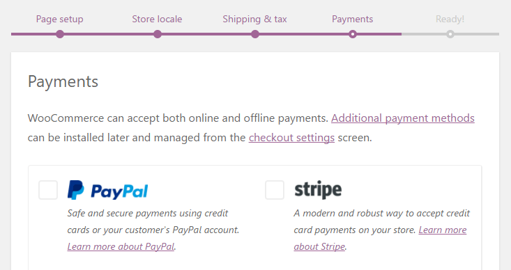 Configuring your WooCommerce payment options.