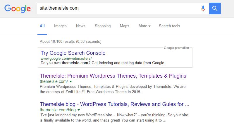 WordPress Maintenance Indexed