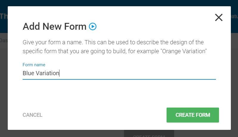name form