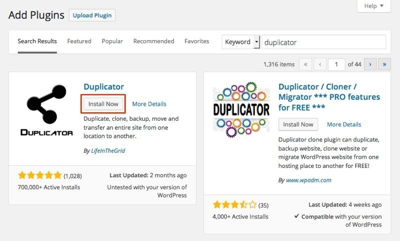 move-wp-new-host-duplicator-plugin-install