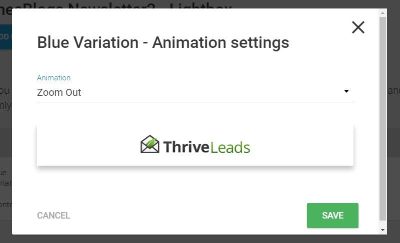 animation settings