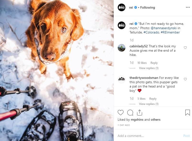 rei instagram - social media style guide