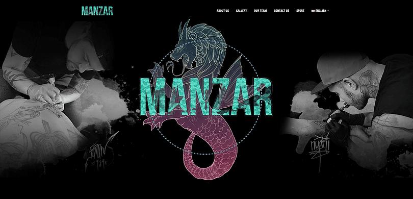 Manzar Tattoo website screenshot