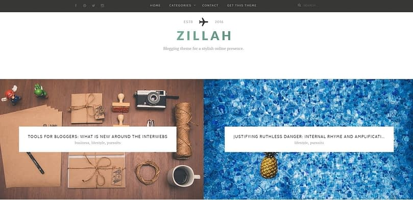 Zillah homepage