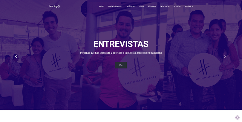 LaRevistaHashtag website screenshot